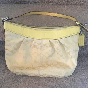 Coach Yellow Over the Shoulder Purse